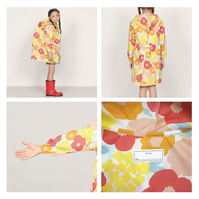 現貨!日本WPC 白堊紀恐龍M 空氣感兒童雨衣/超輕量防水風衣 附收納袋(95-120cm)