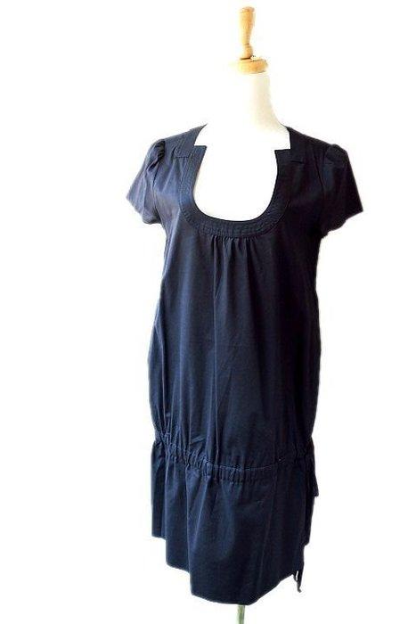 *Beauty*ICEBERG黑色深U領棉紗短袖洋裝6500元CO17