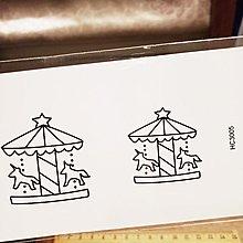 【萌古屋】】旋轉木馬 - 防水紋身貼紙刺青貼紙 HC-3005
