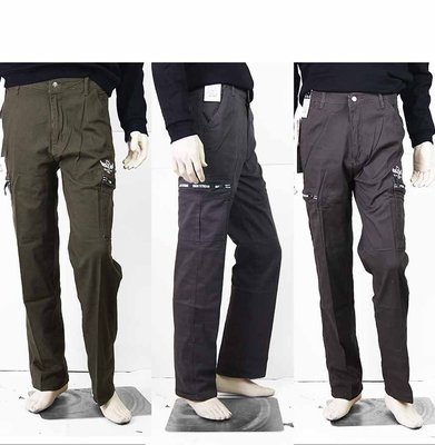 【肚子大】B11-休閒長褲/工作褲-側...