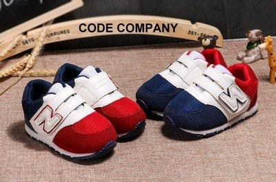 =CodE= TEFEITU BABY SHOES N字魔鬼氈麂皮學步鞋(紅.藍)NB 輕量 柔軟 防滑 小童嬰兒 男女