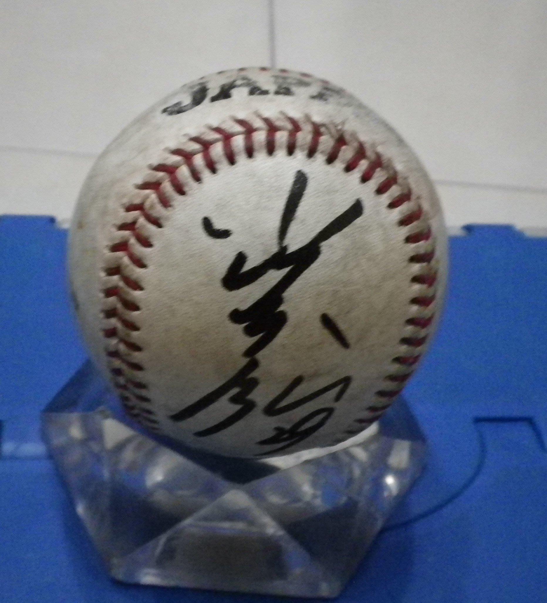 棒球天地--5折賠錢出--世界12強 小川泰宏 簽名最新版日本國家隊練習球.空運來台