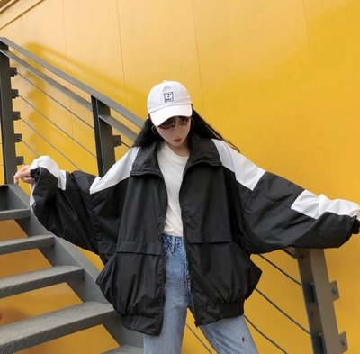 [W-6116]韓版街頭帥氣bf風夾克外套撞色棒球服