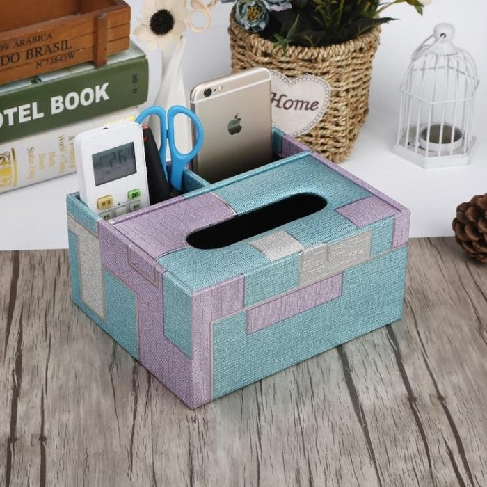 歐式紙巾盒創意收納盒多功能家用客廳簡約款 JA2004