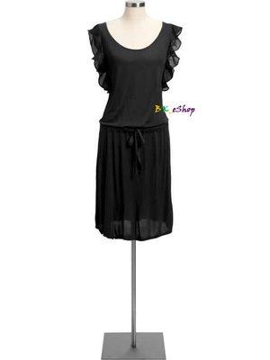 【美衣大鋪】a2☆ OLD NAVY 正品☆Chiffon-Sleeve Jersey Dresses 美洋裝