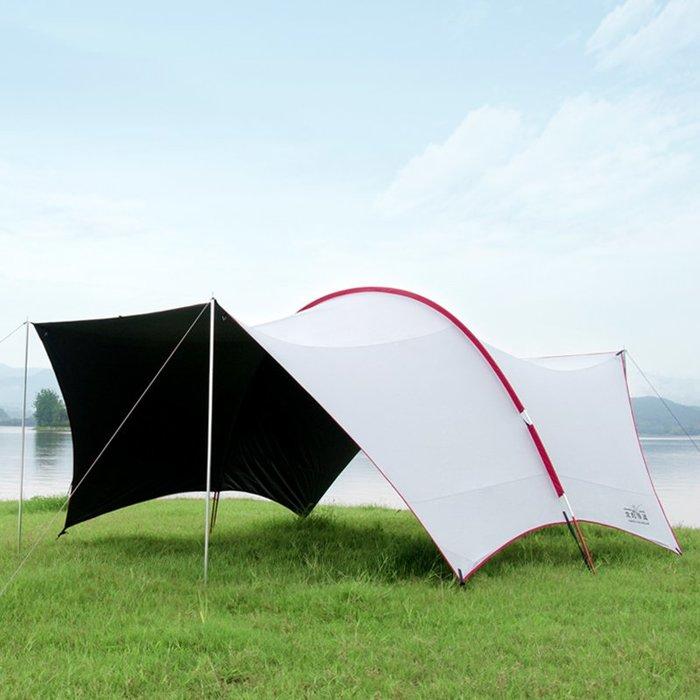 聚吉小屋 #全遮光天幕遮陽棚 戶外防雨防曬多人隔熱釣魚帳篷遮雨篷(下標聯繫客服改價)