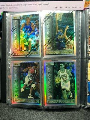 1996 Topps Holding Court Michael Jordan Refractor 等其他球星共4張