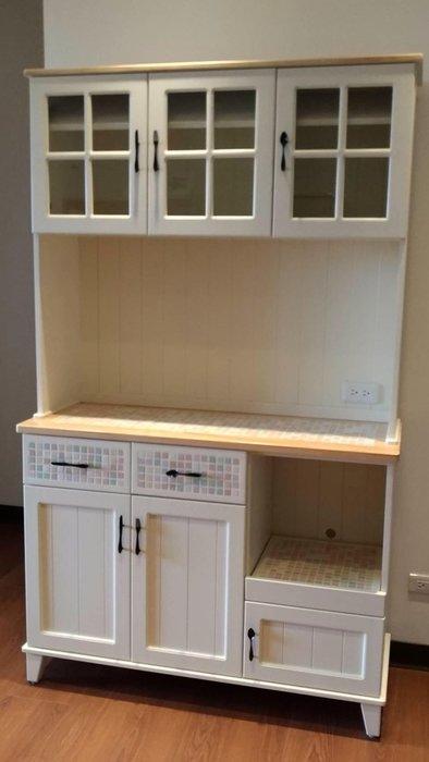 戀戀小木屋 馬賽克餐櫃 備餐櫃 收納櫃。客製款