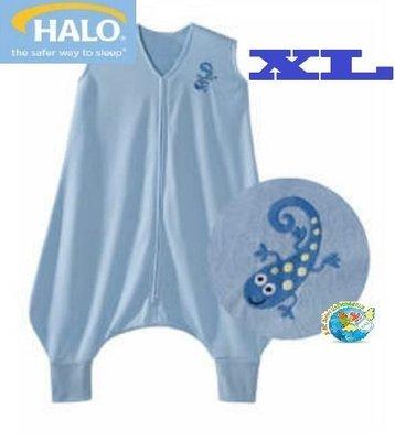 X.H. Baby【美國HALO】SleepSack Early Walker 防踢被 背心 睡袋 春夏針織 藍色蜥蜴