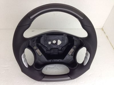 BENZ 賓士 W203 AMG C32 碳纖維卡夢跑車方向盤