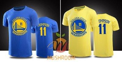 NBA 2015 冠軍 球隊 球星 勇士隊 Klay Thompson 11號 純棉 T恤 短袖 素T 勇士 LOGO