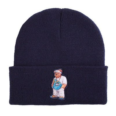 { POISON } PrettyNice x Just Clue it Hyphy Bear Beanie 勇士隊毛帽