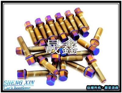 《晟鑫》全新 AUDI 保時捷 賓士 福斯 SKODA 鍍彩鈦藍紫螺絲 輪胎螺絲 圓頭專用鋁圈螺絲