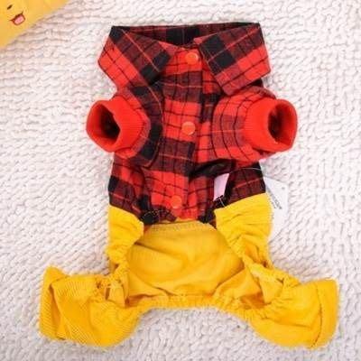 寵物衣 秋冬狗狗衣服-可愛學生背帶保暖寵物用品2色73ih49[獨家進口][米蘭精品]