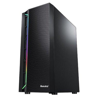 電腦配件 航嘉GS420S臺式電腦機箱水冷主機游戲電競ATX鋼化玻璃側透RGB燈帶解憂大鋪子