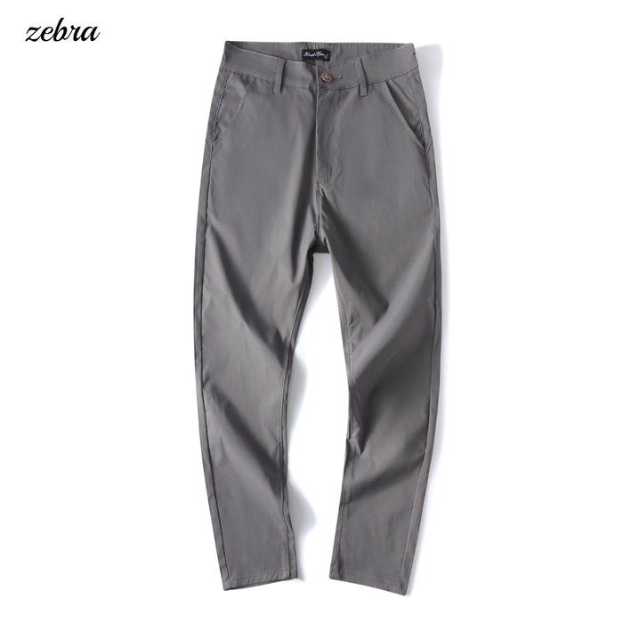 ZEBRA-【FK4172】韓版 3色 型男 合身 素面 彈性 休閒褲 時裝長褲 30/36 特價 450元