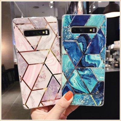 2075幾何圖形漸變色三星SAMSUNG S8+S9+ S10+ S10E NOTE8 NOTE9 A40 A70電話殼