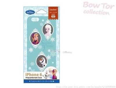 光華商場。包你個頭【Disney】迪士尼 iphone6 4.7吋 皮革漆 冰雪奇緣 藍色 保護殼 日本原裝 879