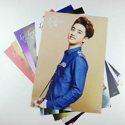 促銷 EXO-K嘟景秀D.O.單人海報8張裝 韓國港臺明星壁畫牆貼紙壁紙