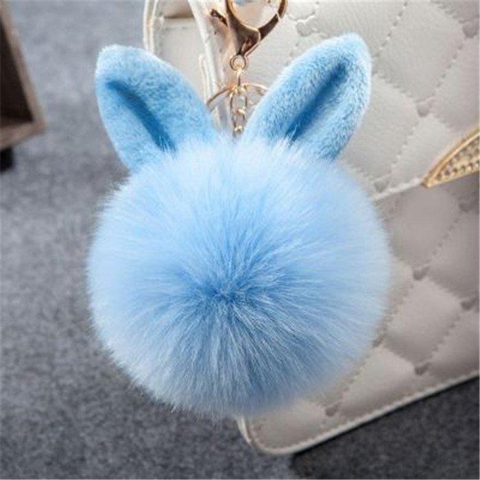 韓國最萌吊飾 兔耳毛球吊飾 毛球 吊飾 鑰尺圈 配件 掛飾 包包吊飾 小禮物 生日禮物