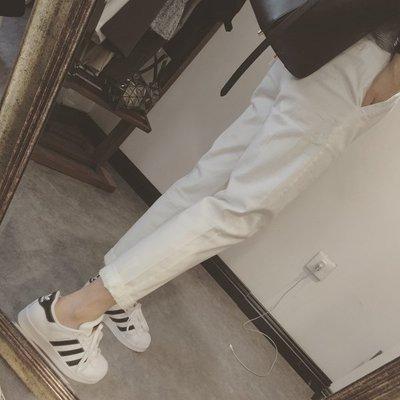 【Casi Cielo】 現貨 熱門回購款~超舒適 挺版 顯瘦 百搭 休閒褲 長褲  (黑色 卡其 白色 現貨)
