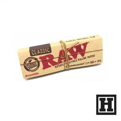 [H Market] 西班牙 RAW Classic Connoisseur 行家版 菸紙 1 1/4 76mm 附濾嘴