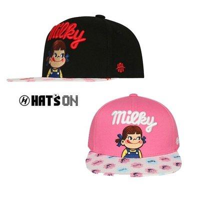 【Easy GO 韓國潮牌代購】HAT'S ON -PEKO超可愛帽簷滿版明治娃娃可調平薝式棒球帽(KIDS)