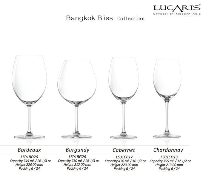 【無敵餐具】LUCARIS曼谷系列水晶紅酒杯LS01BD26(745ml)1盒6入出貨 24個另有優惠【BL050】