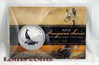 【Louis Coins】F011‧Australia‧2013澳洲‧袋鼠紀念銀幣