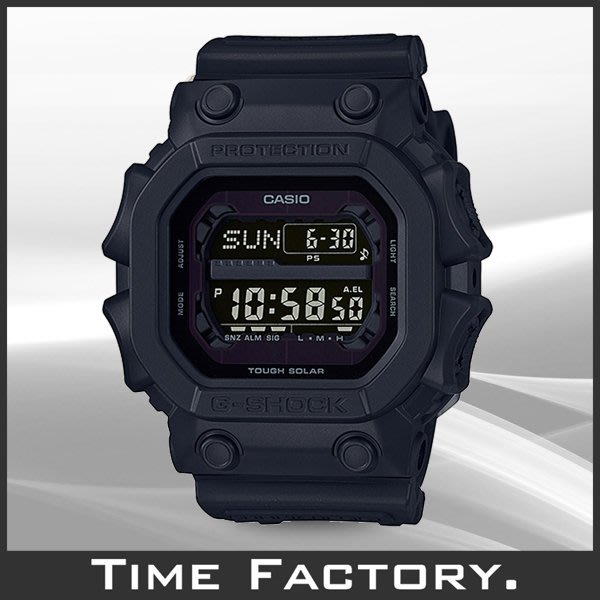 【時間工廠】全新 G-SHOCK 超大錶徑 抗衝擊粗曠系列 靜默黑 GX-56BB-1 (56 5600)