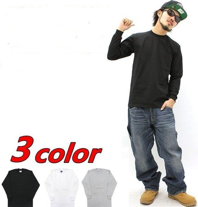 (安心胖) Pro Club Heavy weight 長袖素面 T-shirt XL 黑色 白色 灰色 現貨
