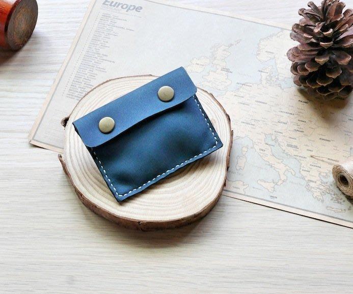 【Brave革.手作】 零錢包   皮革零錢包  真皮手作   海軍藍