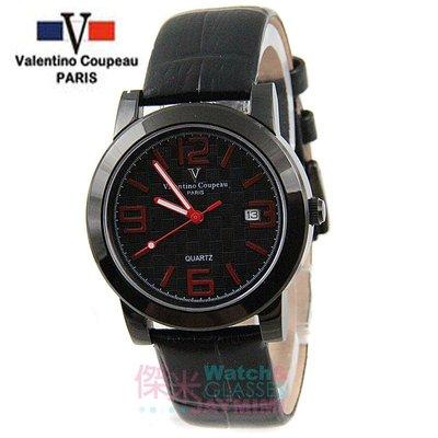 【JAYMIMI傑米】Valentino范倫鐵諾古柏皮帶手腕錶-格紋法式浪漫主義彩色刻度藍水晶玻璃 黑紅 特價 1450