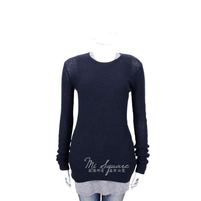 米蘭廣場 ALLUDE 70% WOOL 深藍色羊毛長袖上衣 1540648-34