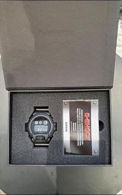Casio G-Shock x SMG 聯名 DW-6900BB Resurgence JJ 林俊傑 海蝶 低調 沉穩 全球限量 純黑 全黑 消光黑 單一尺寸