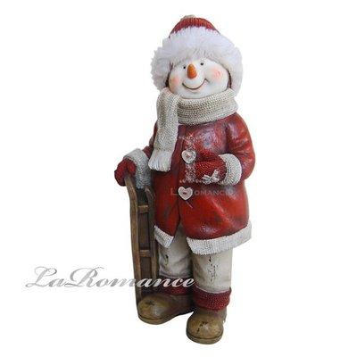 【芮洛蔓 La Romance】德國 Heidi 童趣家飾 - 聖誕童話站姿紅衣滑雪雪人 / 交換禮物