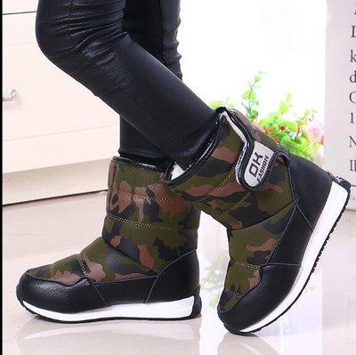 腳踏實地♚2019新款英倫風兒童雪地靴防水防滑加厚男女童靴女孩靴子寶寶棉鞋26-37