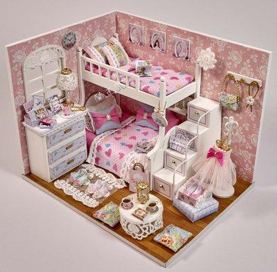 【酷正3C】DIY小屋 袖珍屋 娃娃屋 模型屋 工藝材料包 手做 玩具娃娃住屋 禮物 時光系列 H-006追夢天使
