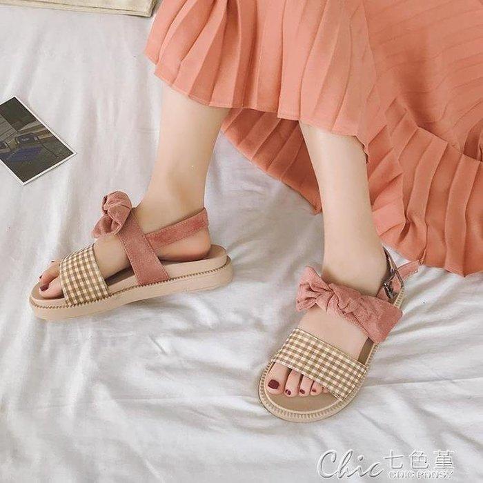麥麥部落 涼鞋女仙女風潮夏季學生百搭平底羅馬鞋MB9D8