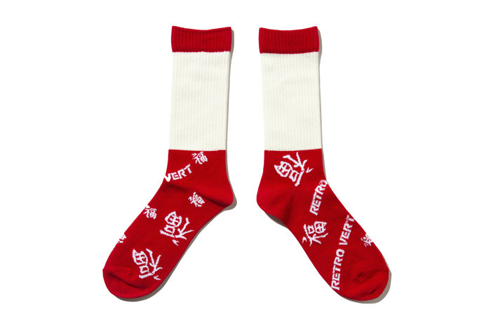 """[ LAB Taipei ] SON OF THE CHEESE """" RETRO SOX """" (Red)"""