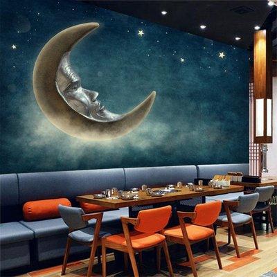 客製化壁貼 店面保障 編號F-226 童話月亮 壁紙 牆貼 牆紙 壁畫 星瑞 shing ruei