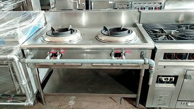 達慶餐飲設備 八里展示倉庫 二手商品  双口炮爐16芯 (炒台)