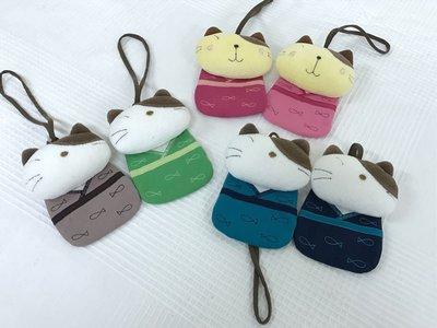 日本卡拉貓~和風貓咪掛式票卡夾