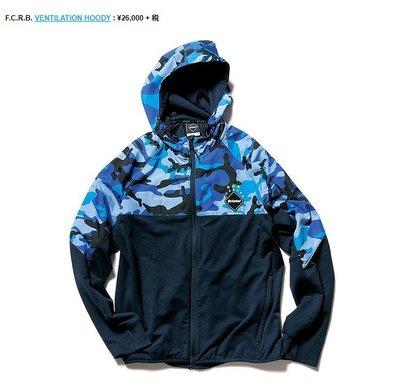 SOPHNET x FCRB VENTILATION HOODY Jacket 藍迷彩 連帽 外套 L號 余文樂