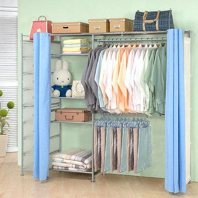 巴塞隆納家具─超大收納60型防塵伸縮衣櫥 (附抽屜櫃)