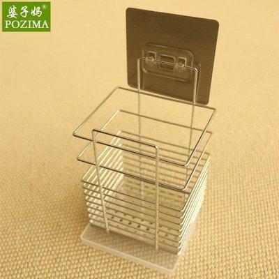 店長嚴選304不銹鋼筷子筒筷籠子壁掛式筷子盒桶架子收納盒家用廚房多功能