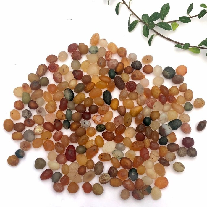 [馬克與安]戈壁瑪瑙彩珠一組/尺寸:長約7-12mm長圓珠