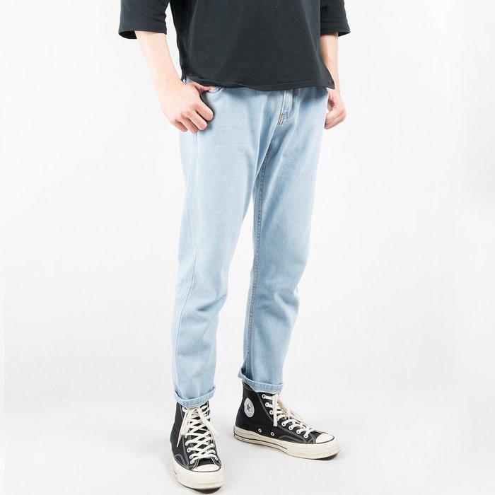 【Random】【復古水洗淺色牛仔褲】水洗 古著 淺刷色 素面 牛仔褲  30-34