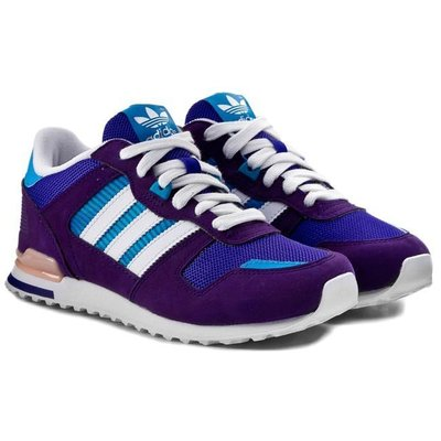 運動GO~ ADIDAS 愛迪達 ZX 700 K 紫 慢跑鞋 M17015 女生 復古 慢跑 休閒 穿搭