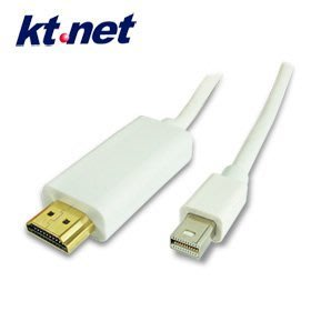 【電腦天堂】MiniDis公轉HDMI公1.8 mini DisplayPort(公) to HDMI(公) 轉換線 1